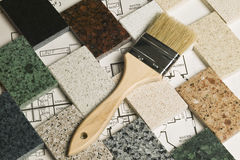 Selection of granite stone Royalty Free Stock Photography