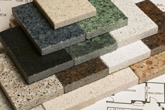 Selection of granite stone Royalty Free Stock Images