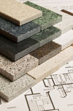 Selection of granite stone Stock Images