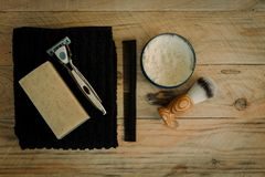 Selection of grooming items for a man royalty free stock images