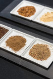 Selection of Ground Spices Stock Photo