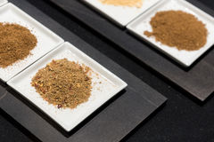 Selection of Ground Spices Royalty Free Stock Photo