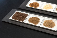 Selection of Ground Spices Royalty Free Stock Photos