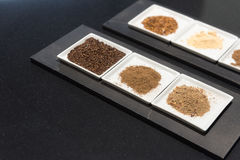 Selection of Ground Spices Stock Photos