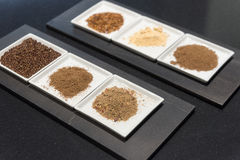 Selection of Ground Spices Royalty Free Stock Photography