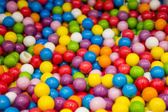 Selection of gumballs. A fullframe images of different coloured gumballs stock images