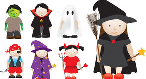 Selection of halloween characters Stock Images