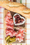 Selection of hams and salami Royalty Free Stock Image