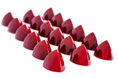 Red Chocolate Bonbons royalty free stock photos