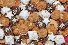 Selection of handmade wholemeal christmas cookies. Traditional food royalty free stock image