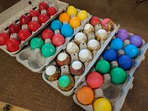 Selection of hard boiled easter eggs Stock Photography