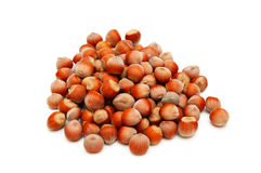 Selection of hazelnuts Stock Photos