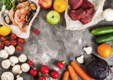 Selection of healthy dietary food Stock Photography
