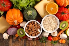 Selection of healthy eating. Top view Royalty Free Stock Photography