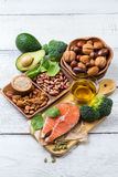 Selection of healthy food for heart, life concept Stock Photography