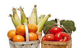 Selection Of Healty Fresh Fruits And Vegetables Stock Photos