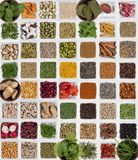 Selection of Herbs and Spices Royalty Free Stock Photo