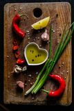 Selection of herbs and spices Royalty Free Stock Photos