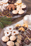 Selection of holiday cookies Royalty Free Stock Images