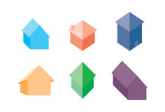 Selection of house or home icons - Illustration Stock Photography