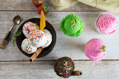 Selection of ice creams Royalty Free Stock Photography