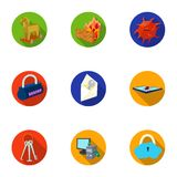 A selection of icons about protection and breaking. Modern technology of protection against breaking. Hackers and. Hacking icon in set collection on flat style Stock Photography