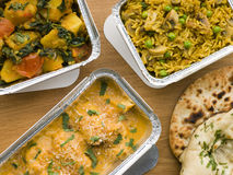 Selection Indian Take Away Dishes Stock Images