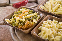 Selection of Italian Pasta stock photos