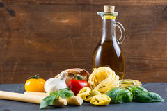 Selection of italian tipical food Stock Image