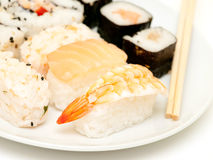 A selection of japanese sushi close up Stock Images