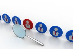 Selection for job concept Royalty Free Stock Photo
