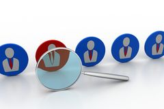 Selection for job concept Stock Images