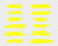 A selection of the line of stroke markers. Vector highlight brush lines. Hand drawing sketch underlined, stripes. Isolated. royalty free illustration