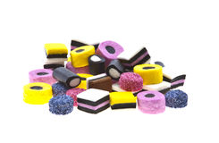 Selection of liquorice sweets Stock Photography