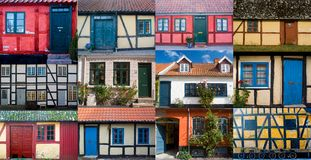 Selection of Lollands doors and windows 2009 Stock Photography