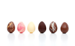 Selection of  luxury easter eggs Royalty Free Stock Photos