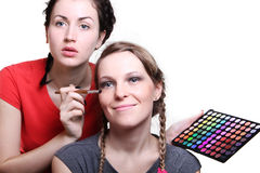 Selection of make-up stylist Royalty Free Stock Photo