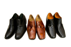 Selection of male shoe Stock Photo