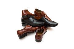 Selection of male shoes Royalty Free Stock Photo