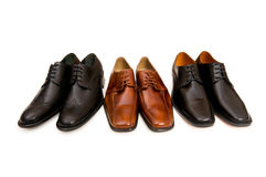 Selection of male shoes Stock Photography