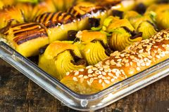 Selection of middle Eastern sweets Royalty Free Stock Photo