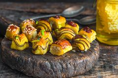 Selection of middle Eastern sweets Royalty Free Stock Images