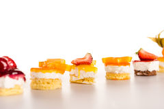 Selection of mini desserts creamy fruit choice Royalty Free Stock Images