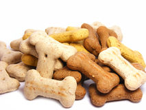 Selection of mini dog biscuit bones Royalty Free Stock Photography