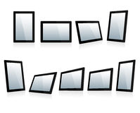 Selection of Mini Tablets at different angles Royalty Free Stock Photos