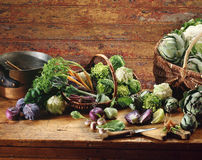 Selection of mini vegetables Stock Photos