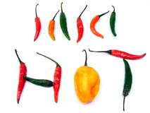 A selection of mixed chillies Royalty Free Stock Photography