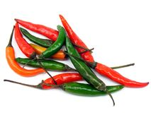 A selection of mixed chillies Royalty Free Stock Photo