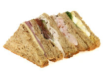 Selection of Mixed Sandwiches Royalty Free Stock Image