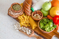 Selection of nutrients for vegetarian diet Stock Photography
